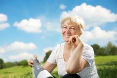 De bejaarde dame Royalty-vrije Stock Foto's