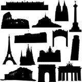 De bekende bouw in Europa Stock Foto's