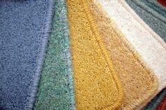De bekledingen van het tapijt in winkel Royalty-vrije Stock Foto