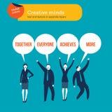 De bel van de wereldtoespraak van de dialoog van zakenlui wordt gemaakt dat Stock Foto