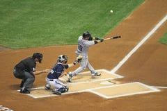 De belangrijke Actie van het Honkbal van de Liga Stock Afbeelding