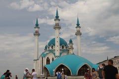 De belangrijkste aantrekkelijkheid van Kazan het Kremlin is Kul Sharif Mosque stock foto's