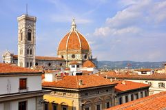 De belangrijkste Basiliek in de stad van Florence, Italië Stock Fotografie