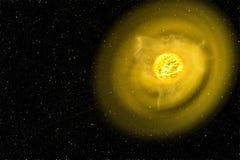 de belangrijkste energiebron ter wereld zonnewinden vector illustratie