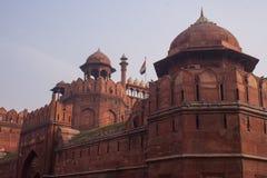 De belangrijkste ingang van Lal Quila, Rood Fort in Delhi Stock Foto's