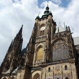 De belangrijkste kathedraal in Praag. Stock Foto