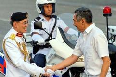 De belangrijkste Kracht van de Defensie heet Eerste minister welkom Royalty-vrije Stock Fotografie