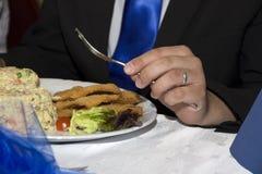De belangrijkste maaltijd Royalty-vrije Stock Fotografie