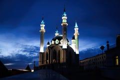 De belangrijkste moskee van Kathedraaljuma van de Republiek Tatarstan Kul Sharif stock afbeeldingen