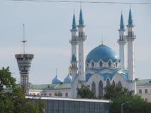 De belangrijkste moskee van Kazan Kul Sharif in het Kremlin royalty-vrije stock afbeelding