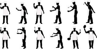 De belangrijkste silhouetten van de keuken royalty-vrije illustratie