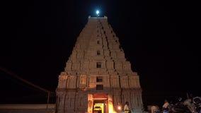 De belangrijkste tempel complex in Hampi bij nacht stock videobeelden