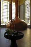 De belangrijkste zaal van brouwerij in Litovel waar het uitstekende bier gekookt is Stock Afbeelding