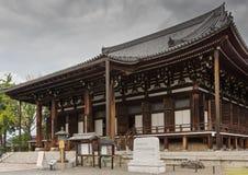De belangrijkste zaal van de Boeddhistische Tempel van Kurodani Stock Afbeeldingen