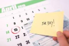De belasting van de V.S. dag 15 april 2019 stock fotografie