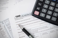 De Belastingsvorm 1040 van de V Stock Foto's