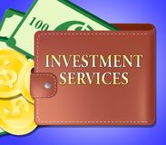 De beleggingsdiensten wil investerend Opties 3d Illustratie vector illustratie