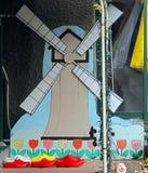 De belemmeringen van windmolentulpen Royalty-vrije Stock Foto