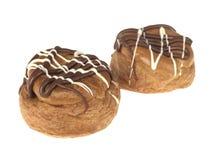 De Belgische Broodjes van Choux van de Chocolade stock afbeelding