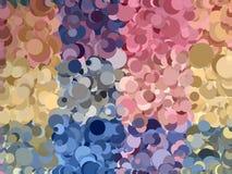 De bellen abstracte achtergrond van de verscheidenheidspastelkleur Stock Foto's