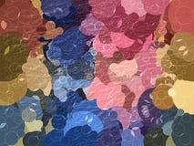 De bellen abstracte achtergrond van de verscheidenheidspastelkleur Royalty-vrije Stock Foto's