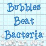 De bellen slaan bacteriën Royalty-vrije Stock Foto's