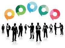 De bellen van de bedrijfsmensentoespraak vector illustratie