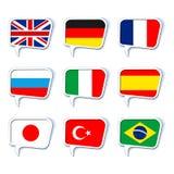 De bellen van de toespraak talen royalty-vrije illustratie
