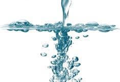 De bellen van de zoet waterplons royalty-vrije stock afbeeldingen