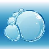 De bellen van het water royalty-vrije illustratie