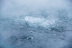 De bellen van het water Stock Foto's