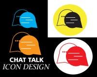 de bellenbericht van de praatjebespreking met het art. van de vier kleurenstijl stock illustratie