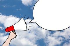 De Bellenconcept van de megafoontoespraak stock illustratie
