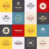 De bellenpictogrammen van de verkooptoespraak Koop nu pijlsymbool Stock Afbeelding