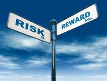 De beloning van het risico vector illustratie