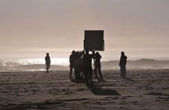 De Bemanning van de film Stock Foto