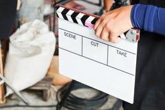 de bemanning van de filmproductie stock afbeeldingen