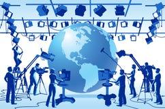 De Bemanning van de Studio van het Kanaal van TV Royalty-vrije Stock Fotografie