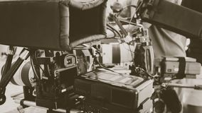 de bemanning van de filmproductie royalty-vrije stock fotografie