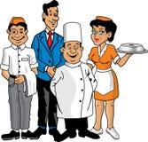 De bemanning van het restaurant Royalty-vrije Stock Foto's