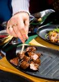 De bemonstering van het vlees Royalty-vrije Stock Foto