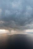 De benaderingen van het onweer. Stock Fotografie
