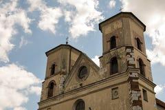 De Benedictineabdij in Tyniec (Polen) Stock Foto's