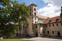 De Benedictineabdij in Tyniec (Polen) Royalty-vrije Stock Foto's