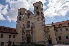 De Benedictineabdij in Tyniec (Polen) Stock Afbeeldingen
