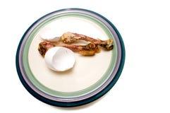 De benen en shell van de kip stock foto