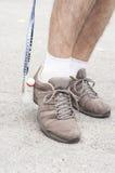 De benen van de badmintonspeler Royalty-vrije Stock Foto's