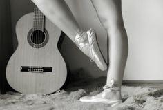De benen van de ballerina royalty-vrije stock afbeelding