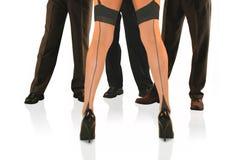 De benen van de danser stock foto's