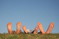 De benen van de familie Stock Foto